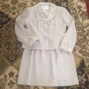 Formal Skirt Suit with Bow Accents size 8